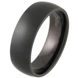 Lust 8 Black Titanium Ring