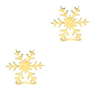 Gold Snowflake Stud Earrings