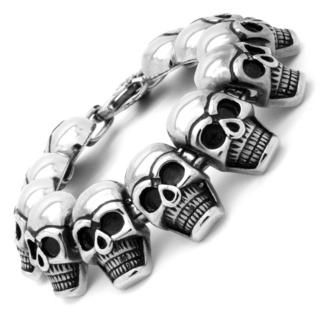 Chunky Stainless Steel Skull Bracelet
