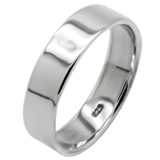 925 Silver Band 6mm Ring