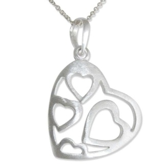 Ador Silver Heart Necklace