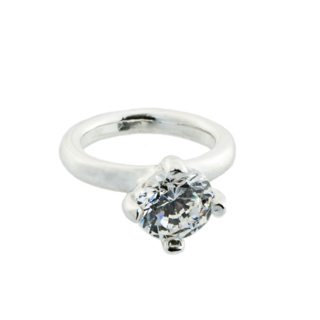 Silver Engagement Ring Charm