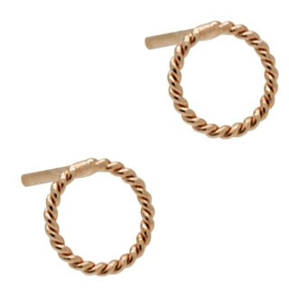 Rose Gold Circle Stud Earrings