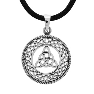 925 Silver Circular Trinty Knot Celtic Necklace