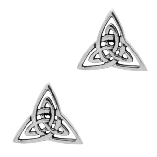 925 Silver Celtic Trinity Knot Stud Earrings