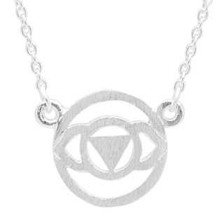 Silver Brow Chakra Necklace