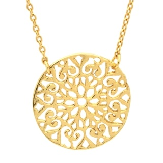 Gold Intricate Flower Necklace