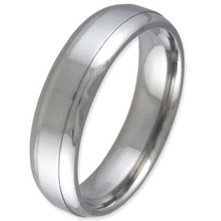Revere Two Tone Titanium Ring