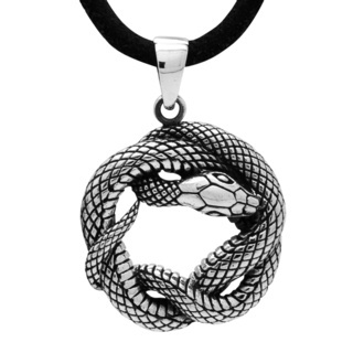 925 Silver Coiled Snake Necklace