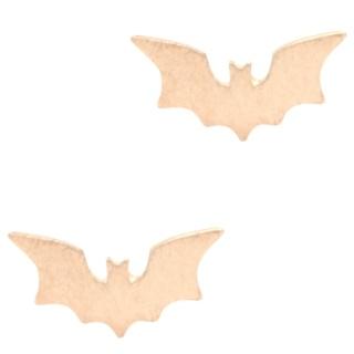 Rose Gold Bat Earrings