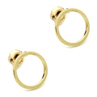 Gold Plated Circular Stud Earrings