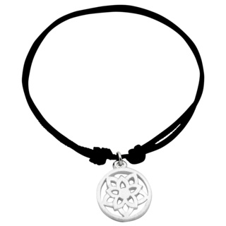 Adjustable Silver Crown Chakra Bracelet
