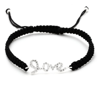 Adjustable Crystal Love Bracelet