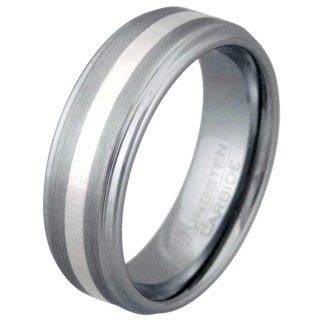 Honour Tungsten Silver Ring
