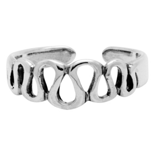 925 Silver Wave Toe Ring