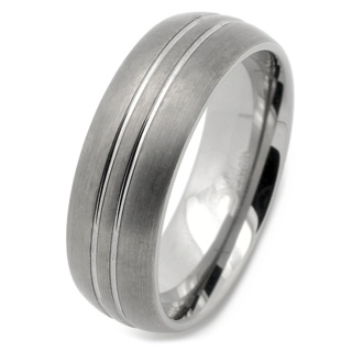8mm Tungsten Carbide Wedding Band Ring with Two-tone Finish