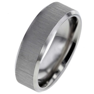 Cross Brushed Titanium Wedding Ring