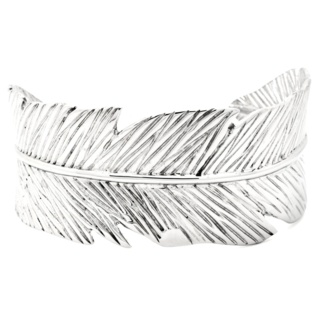 Stainless Steel Feather Cuff