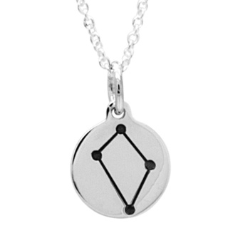 925 Silver Zodiac Libra Constellation Necklace