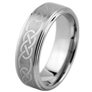 Constant Celtic Tungsten Ring