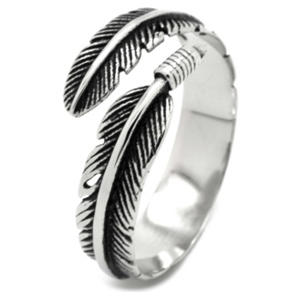 Stainless Steel Feather Ring