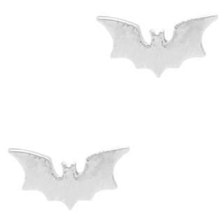 Silver Plated Bat Earrings