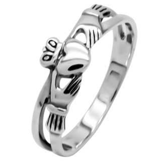 925 Silver Claddagh Ring