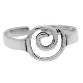 Silver Central Spiral Toe ring