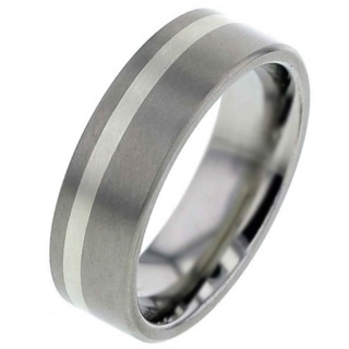 White Gold & Titanium Wedding Ring