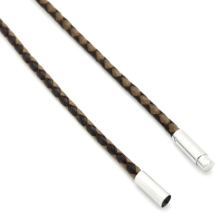 Two Tone Waxed Cotton Brown Necklace