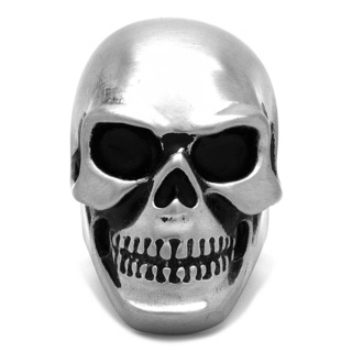 Matt Stainless Steel Skull Ring