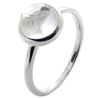 Silver Stacking Cubic Zirconia Crystal Ring