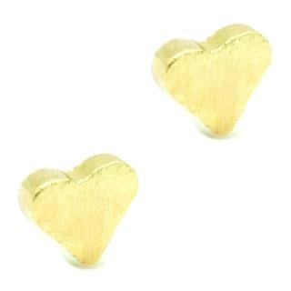 Mini Gold Heart Stud Earrings