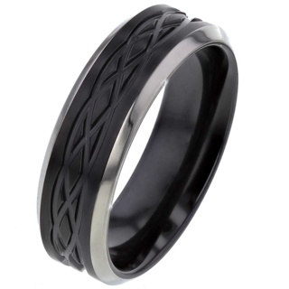 Two-Tone Celtic Zirconium Ring