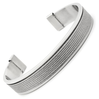 Steel Cuff with Central Wire Feature