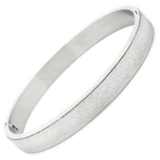 Sparkling 8mm Stainless Steel Bangle