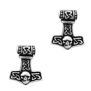 925 Silver Thor's Hammer Stud Earrings
