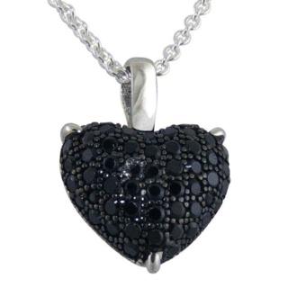 Innocence Black Pave Crystal Silver Pendant