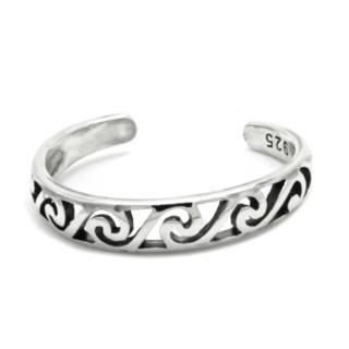 925 Silver Eternal Wave Toe Ring