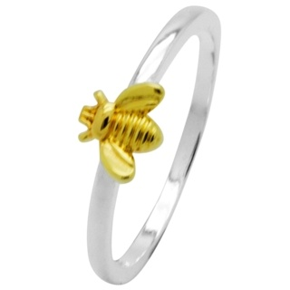 Silver Plated Bee Ring