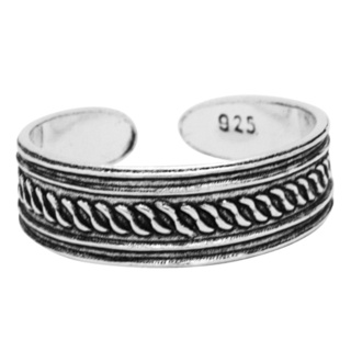 Oxidised Ethnic 925 Silver Toe Ring