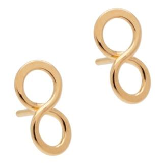 Rose Gold Infinity Stud Earrings