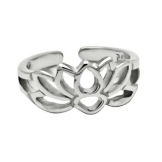 925 Silver Lotus Flower Ear Cuff