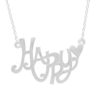 Silver Happy Necklace