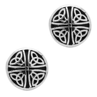 925 Silver Circular Celtic Stud Earrings