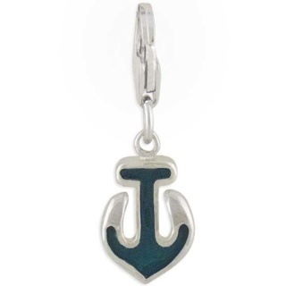 Anchor Silver Charm Green