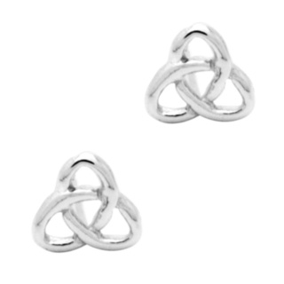 925 Silver Triquetra Celtic Earrings