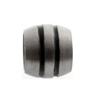 Matt Titanium Bead with Two Inlays